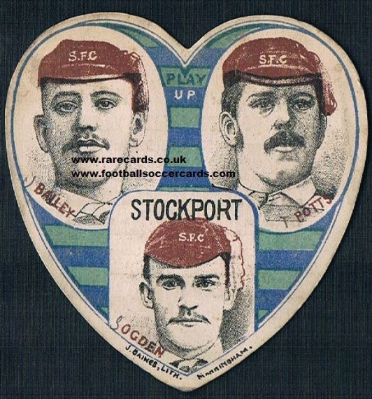 1890s Stockport FC Ogden Bailey Potts